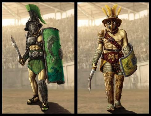 ( arena colossei ) trace e mirmillone
